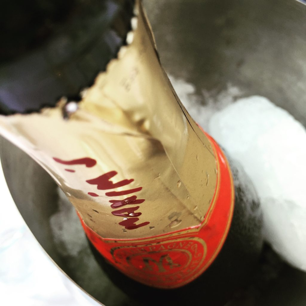 Maxim's champagne on ice